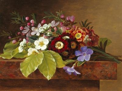 Bouquet of Apple and Cherry Blossoms, and Primula