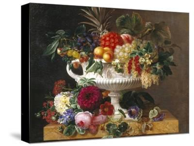 Classical Urn with Gooseberries, Apricots, Nuts and Currants