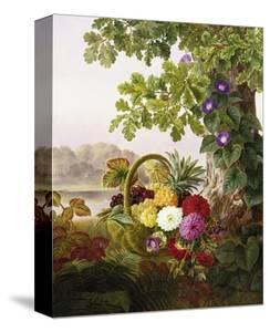 Dahlias, Asters, and Morning Glory by Johan Laurentz Jensen