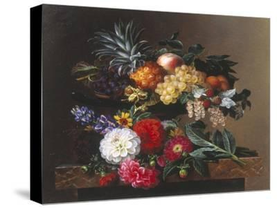Dahlias, Lupin and Coreopsis in a Greek Kylix