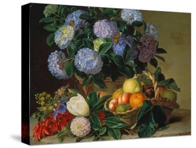 Hydrangea in a Jug and a Basket with Oranges, Lemons and Figs, 1834