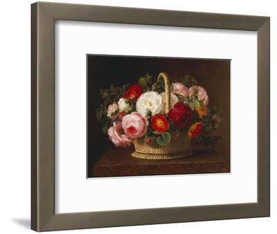 Roses in a Basket on a Ledge, 1838