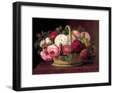Roses in a Basket on a Ledge