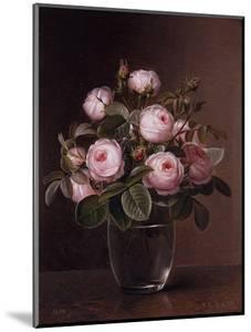 Roses in a Glass Vase by Johan Laurentz Jensen