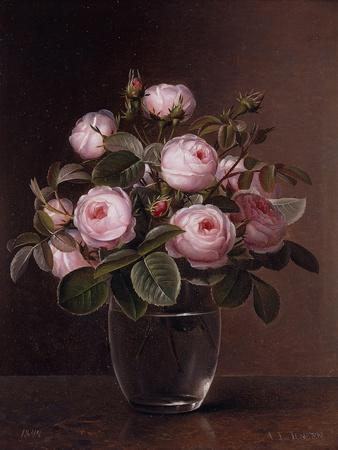 Roses in a Glass Vase