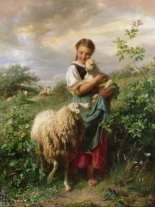 The Shepherdess, 1866 by Johann Baptist Hofner