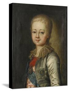 Portrait of Grand Duke Alexander Pavlovich (Alexander) as Child by Johann-Baptist Lampi the Younger