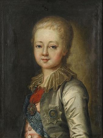 Portrait of Grand Duke Alexander Pavlovich (Alexander) as Child