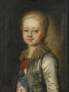 Portrait of Grand Duke Alexander Pavlovich (Alexander) as Child by Johann-Baptist Lampi the Younger