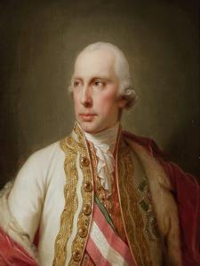 Portrait of Holy Roman Emperor Francis II (1768-183) by Johann-Baptist Lampi the Younger
