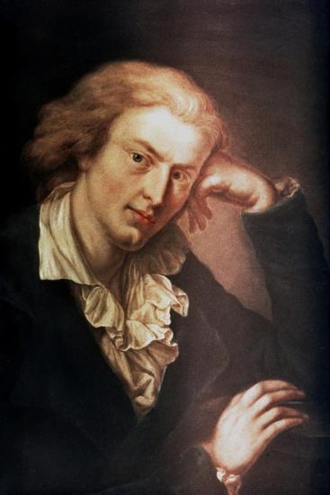 Johann Christoph Friedrich Von Schiller, German Poet, Dramatist and Historian, C1785-Anton Graff-Giclee Print