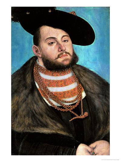 Johann Friedrich the Magnanimous (1503-1554), Elector of Saxony Since 1532-Lucas Cranach the Elder-Giclee Print