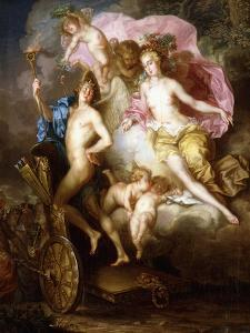 The Triumph of Venus and Cupid with Cupid's Chariot by Johann Georg Platzer