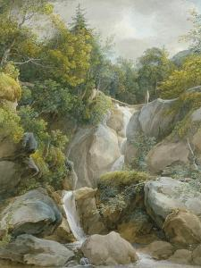 The Falls of the Isar by Johann Georg von Dillis