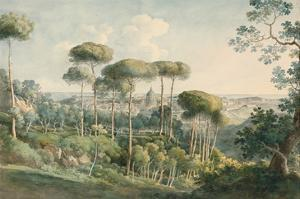 View from the Villa Melini of Rome, 1818/19 by Johann Georg von Dillis