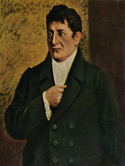 'Johann Gottlieb Fichte 1762-1814. - Gemälde von Professor Plühr', 1934-Unknown-Giclee Print