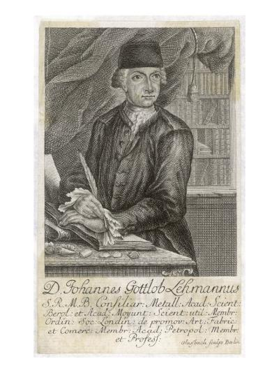 Johann Gottlob Lehmann German Geologist--Giclee Print