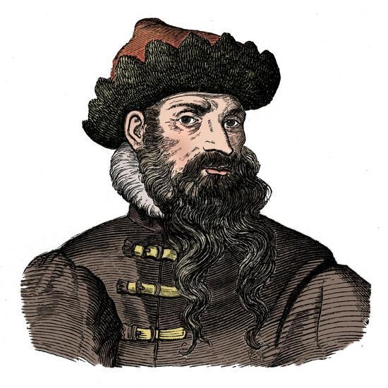 Johann Gutenberg, German metalworker and inventor, 16th century, (1870).-Unknown-Giclee Print