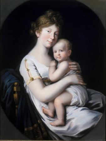 Crown Princess Luise Von Preussen with Crown Prince Friedrich Wilhelm Iv, 1796