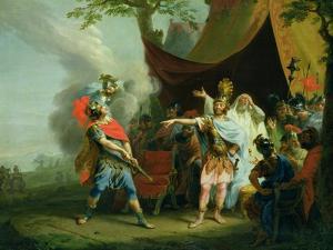 Achilles Has a Dispute with Agamemnon, 1776 by Johann Heinrich Tischbein