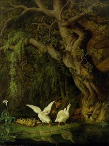 Foxes and Geese by Johann Heinrich Tischbein