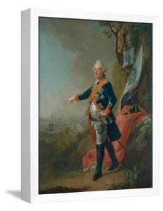 Frederick II, Landgrave of Hesse-Kassel, in the Officer's Uniform of the 45th Prussian Infantry… by Johann Heinrich Tischbein