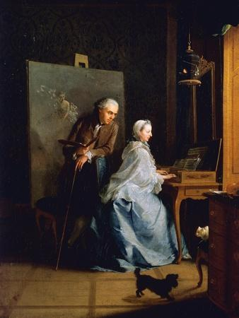 Portrait of Artist and His Wife at Spinet
