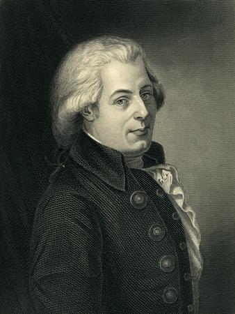 Portrait of Wolfgang Amadeus Mozart (1756-91) Austrian Composer
