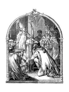 Baptism of Saxon Leader Widukind, 1840 by Johann Jakob Kirchhoff