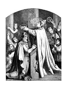 The Coronation of Emperor Charlemagne by Pope Leo III, 1840 by Johann Jakob Kirchhoff