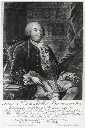 Portrait of Johann Christoph Gottsched