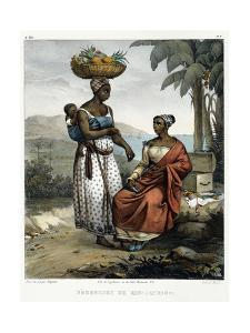Negro Women of Rio-Janeiro, from 'Picturesque Voyage to Brazil', 1835 by Johann Moritz Rugendas