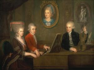 The Mozart Family, 1780-81 by Johann Nepomuk della Croce