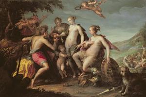 The Judgement of Paris by Johann or Hans von Aachen
