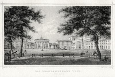 The Brandenburg Gate, Berlin, 19th Century by Johann Poppei