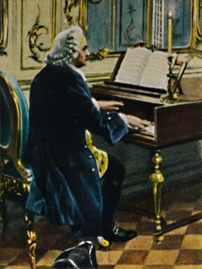 'Johann Sebastian Bach 1685-1750. - Ausichnitt aus dem Gemälde von Carl Röhling', 1934-Unknown-Giclee Print