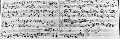 Autograph of the Partita 'sei Gegruesset, Jesu Guetig' by Johann Sebastian Bach