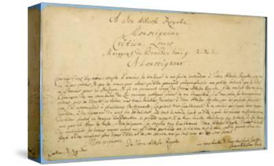 Handwritten Dedication of 'Brandenburger Concertos' to Christian Ludwig, Margrave of Brandenburg