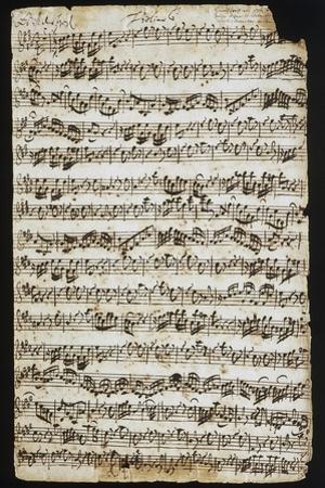 Handwritten Score for Cantata No 9