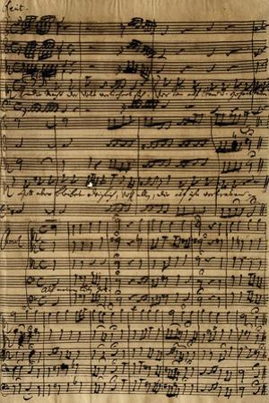 Handwritten Score for Cantatas No188