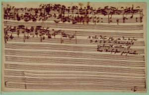 Last Page of the Art of Fugue, 1740S by Johann Sebastian Bach