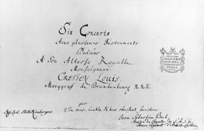 The Brandenburg Concertos, 1721
