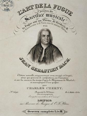 Title Page of Art of Fugue