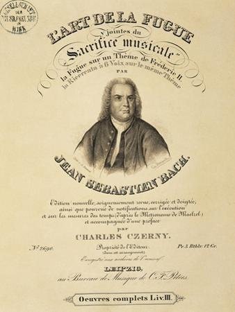 Title Page of Score for Art of Fugue