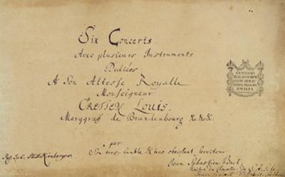 Title Page of the 'Brandenburg Concertos', C.1721
