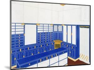 Das Interieur Iv, a Glove Shop, 1906 (Colour Litho) by Johann Stubner