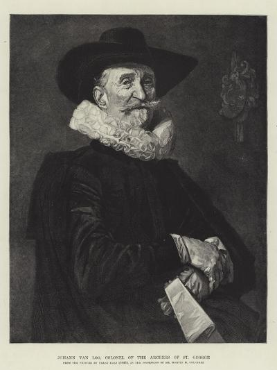 Johann Van Loo, Colonel of the Archers of St George-Frans Hals-Giclee Print