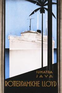 Rotterdamsche Lloyd Poster by Johann Von Stein