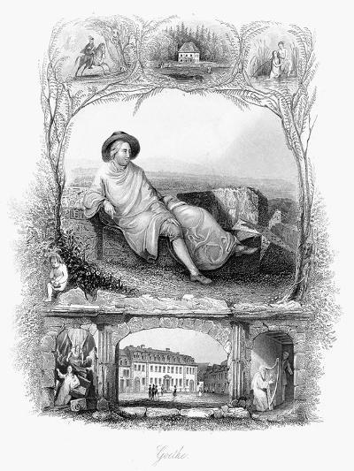 Johann Wolfgang Von Goethe, German Poet, Dramatist and Scientist, C1860--Giclee Print
