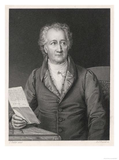 Johann Wolfgang Von Goethe German Writer and Scientist--Giclee Print